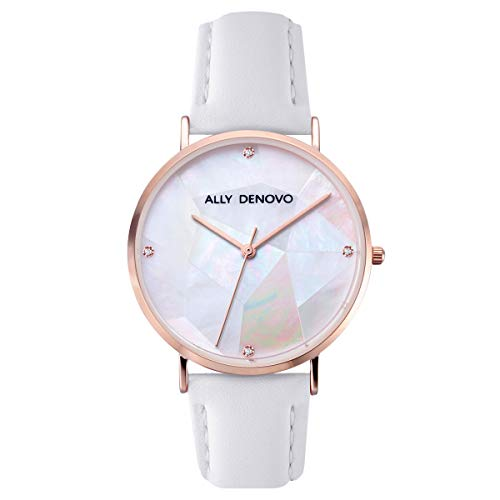 [アリーデノヴォ] ALLY DENOVO 腕時計 Gaia Pearl パール 36mm ローズゴールド/ホワイト メンズ レディース ウォッチ AF5003.10