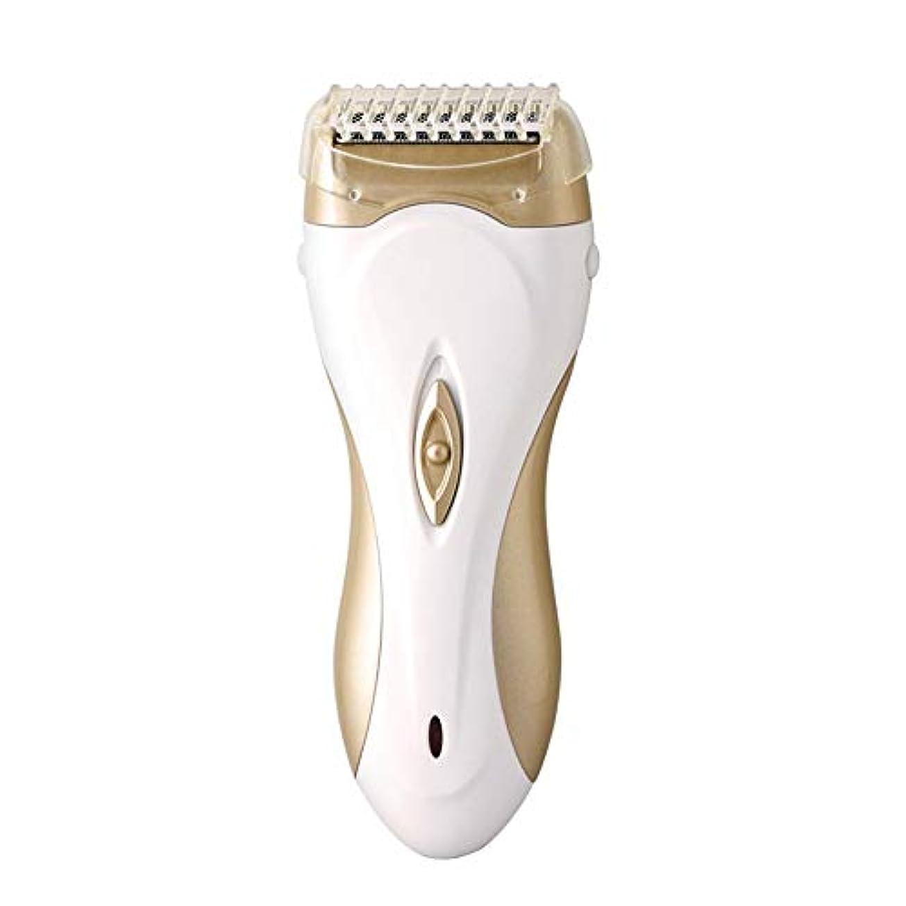 刺します証言シットコム脱毛器、女性コードレス携帯用電気脱毛器、女性の腕脇の下チンビキニ脚用充電式脱毛 (Color : Gold)