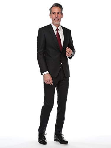 (ヒューゴ ボス) HUGO BOSS ストレッチ ウール混 シングル 2ツ釦 ノータック スーツ [HBHG10194867S9]ブラック / 46 [並行輸入品]
