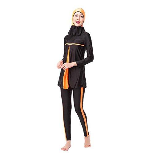 [해외]Hzjundasi Muslim 여성 긴팔 3 Pieces 여름 수영복 이슬람교 아랍 풀 커버 썬 Burkini Malaysia Attached 히잡 캡 Swimwear/Hzjundasi Muslim Women Long Sleeves 3 Pieces Summer Swimwear Muslim Arab Full Cover Sun Protection Burkini Malaysia...