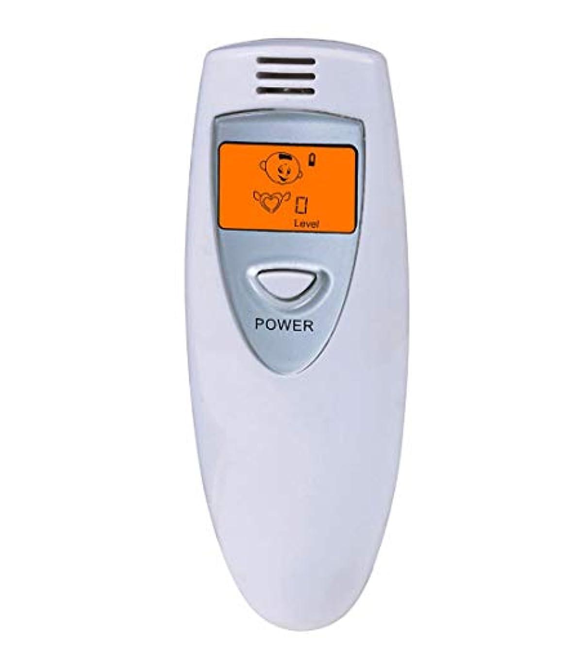 主観的スピン大学【瞬時測定】 携帯ブレスチェッカー デジタル口臭チェッカー 5段階レベル表示 コンパークト口臭予防検査器 大人子供エチケット (Grey)