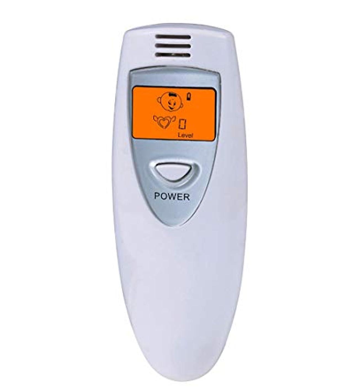 絶望ビジョン電信【瞬時測定】 携帯ブレスチェッカー デジタル口臭チェッカー 5段階レベル表示 コンパークト口臭予防検査器 大人子供エチケット (Grey)