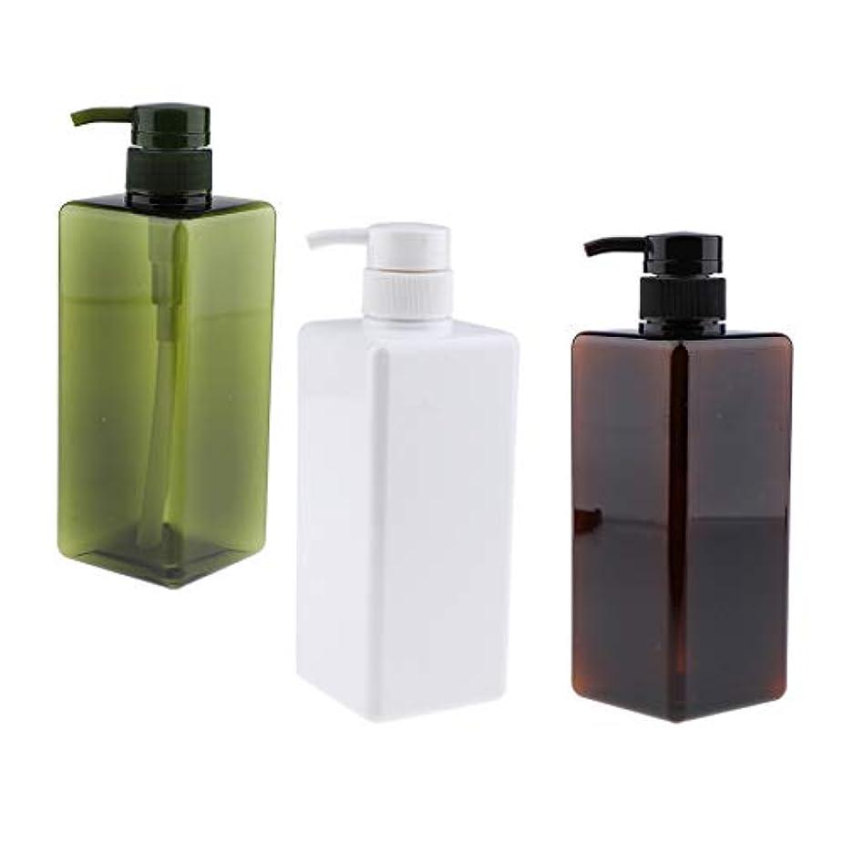 石油バズ爬虫類CUTICATE プレスボトル ポンプボトル 詰替え 空のボト UV保護 紫外線防御 耐久性 650ML 3個セット