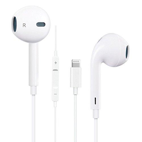 イヤホン Bluetoothイヤホン 高品質の有線高品質 リモコン付きマイク機能調整(Remote and Mic - Standard Packaging - White)可能な音楽再生コンパクトなポータブルマイクトークバックサブウーファーステレオ内部取り付け Bluetooth接続対応iPhone X / iPhone 8 / iPhone 7Plus / iPhone 7 / iPhone 6s / iPhone 6s Plus / iPhone 6 / iPhone 6 Plus / 5S / 5C / 5 / iPad(ホワイト)