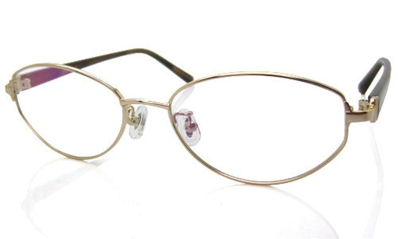 金属電球素子遠近両用メガネ (RSN) レディースクラシック 遠近両用メガネ (ゴールド×ブラウン)[全額返金保証]? 女性用 遠近両用メガネ 老眼鏡 シニアグラス (瞳孔間距離:57-59mm, 近用度数(書類):+1.5)