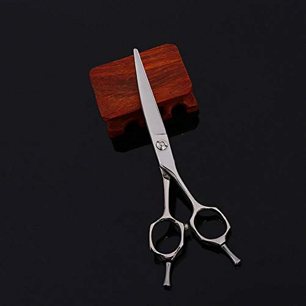 ユーザークアッガ抜粋6インチプロフェッショナルハイエンド理髪はさみツールフラットせん断はさみ モデリングツール (色 : Silver)