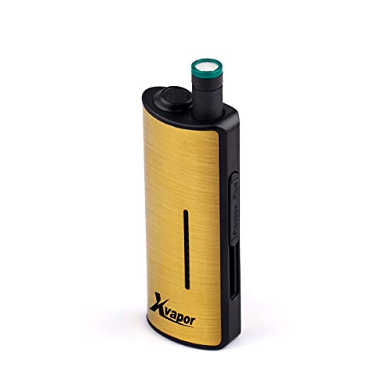 衣装見せます芸術X-Vapor PlooBox Plus X-Vapor PlooBox Plus プルームテック バッテリー 互換 650mAh 55パフ お知らせ 振動 LED 大容量 収納式 カートリッジ 爆煙 手のひらサイズ ゴールド...