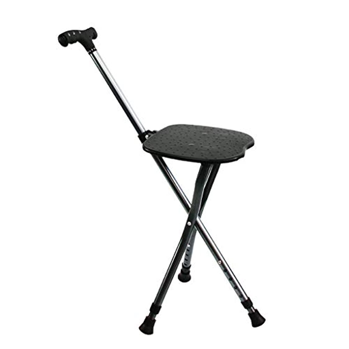ドキュメンタリー頑固な決定する人間工学的のハンドルが付いている杖の軽量の杖の座席男性/女性のための調節可能な高さのレベル関節炎の高齢者の障害者および滑り止めの基盤が付いている年配の移動性の杖最高100kg