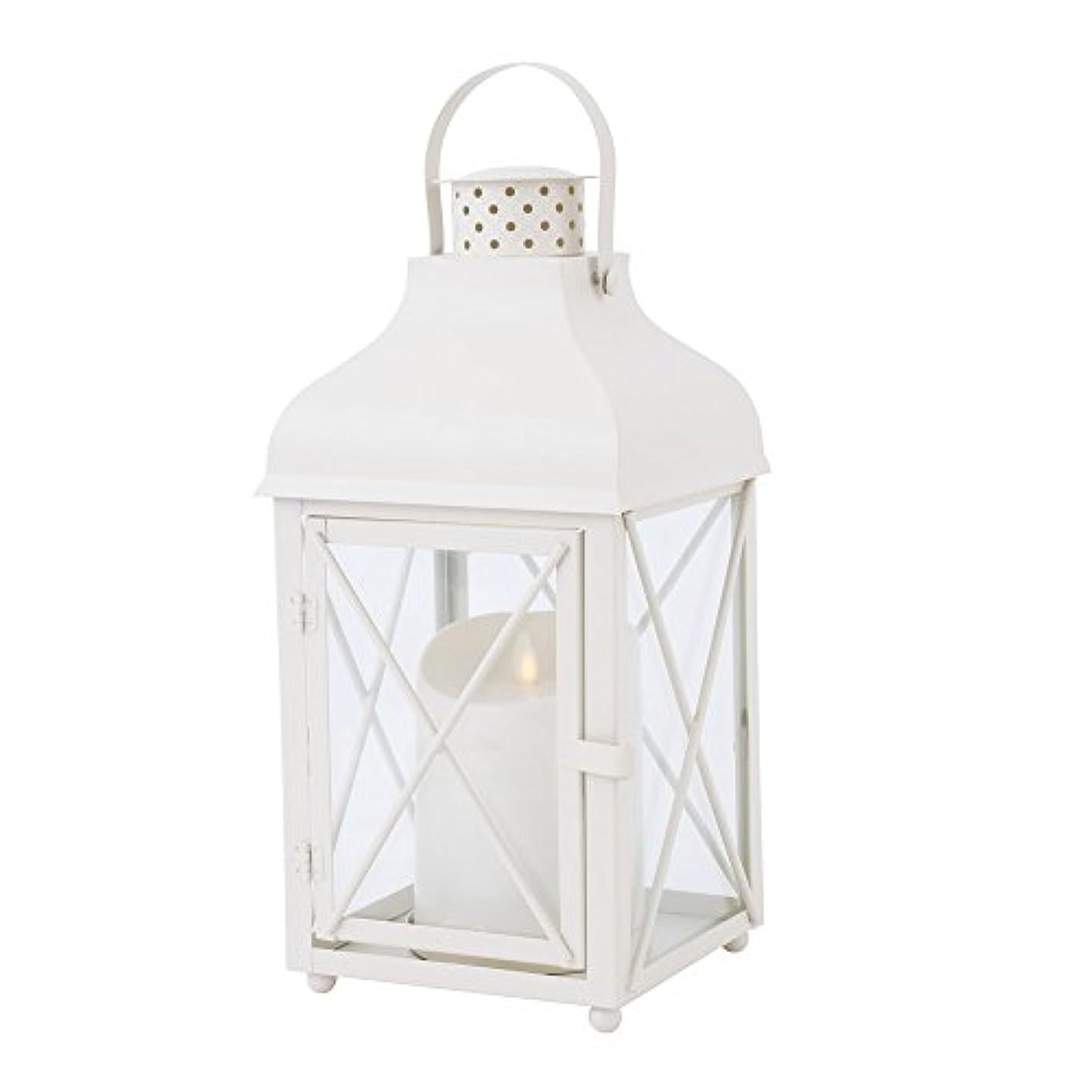 気を散らす簡単にスパイラルカメヤマキャンドルハウス リアルな炎LEDライトルミナラピラー入りランタン ホワイト LUMINARA  LEDキャンドル