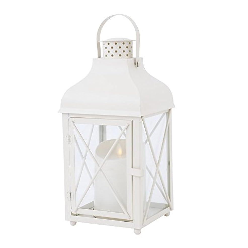 汚染されたほこり存在するカメヤマキャンドルハウス リアルな炎LEDライトルミナラピラー入りランタン ホワイト LUMINARA  LEDキャンドル