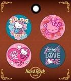 【ハードロックカフェ×ハローキティ】ボタンセット/ピンク