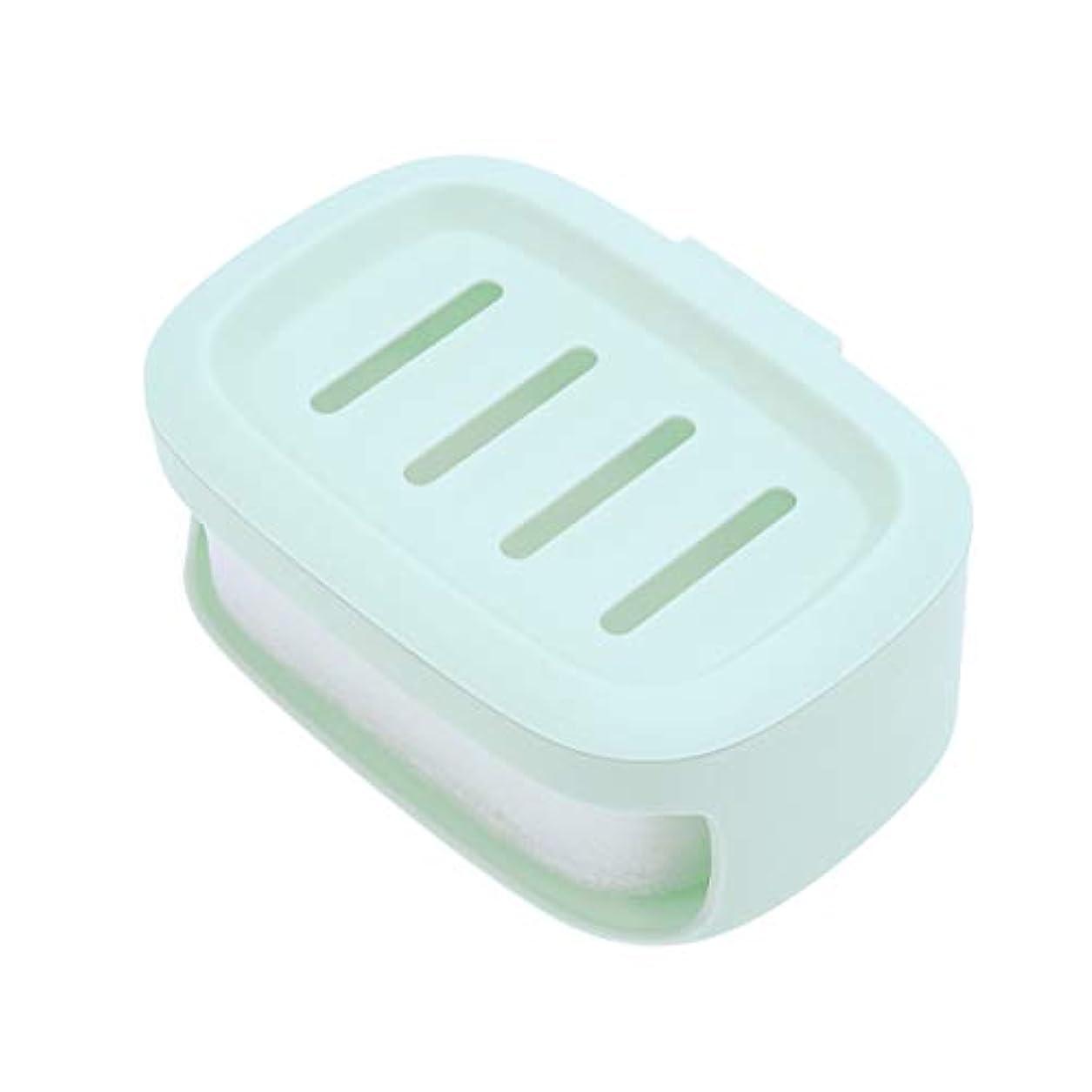 オープナー教育するポルノHealifty ソープボックス防水シールソープコンテナソープホルダー(ライトグリーン)