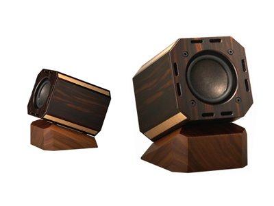 SoundScience BARU2インチ八角黒檀一号&専用アンプ(2W)セット 小型低音拡張スピーカー