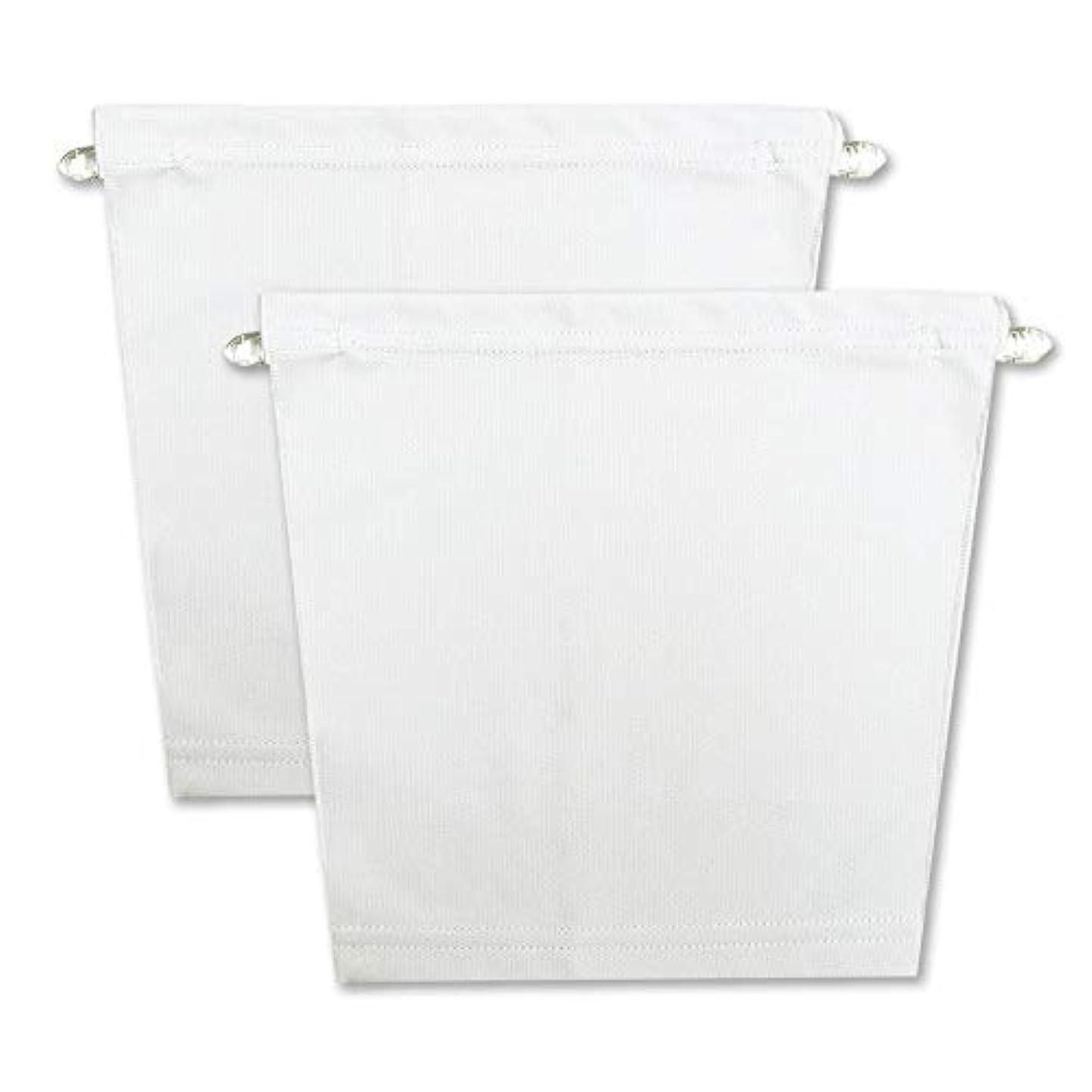 フロントキャミ (2枚組) 胸元隠し UVカット (白 & 白)