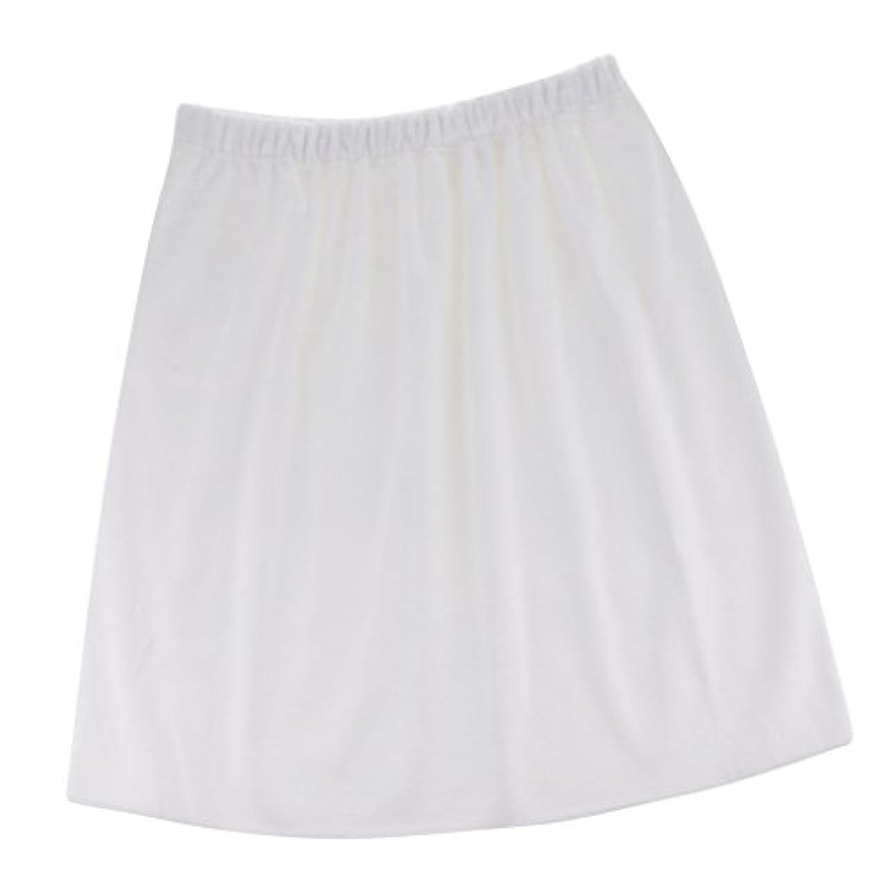 Perfk タオルラップ 吸収性 メンズ バスシャワータオル 高品質 便利 5色選べる - 白