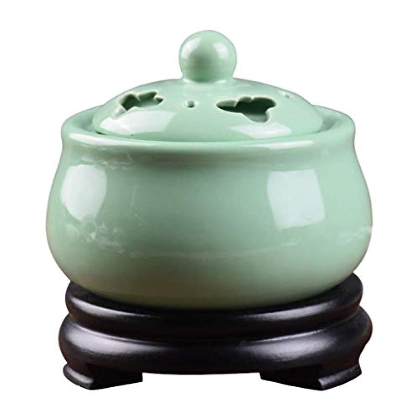 舌な吸収する少数MYTDBD 香炉タイミング温度制御電子セラミックアロマセラピー炉、電気ディフューザー (Color : Green)