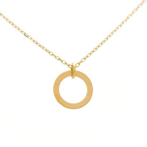Gold Ring 18金製 K18 gold ゴールド (日本製 Made in Japan) (金属アレルギー対応) リングプレート ペンダント ネックレス チェーン ジュエリー (Amazon.co.jp 限定) [HJ] (40 センチメートル)