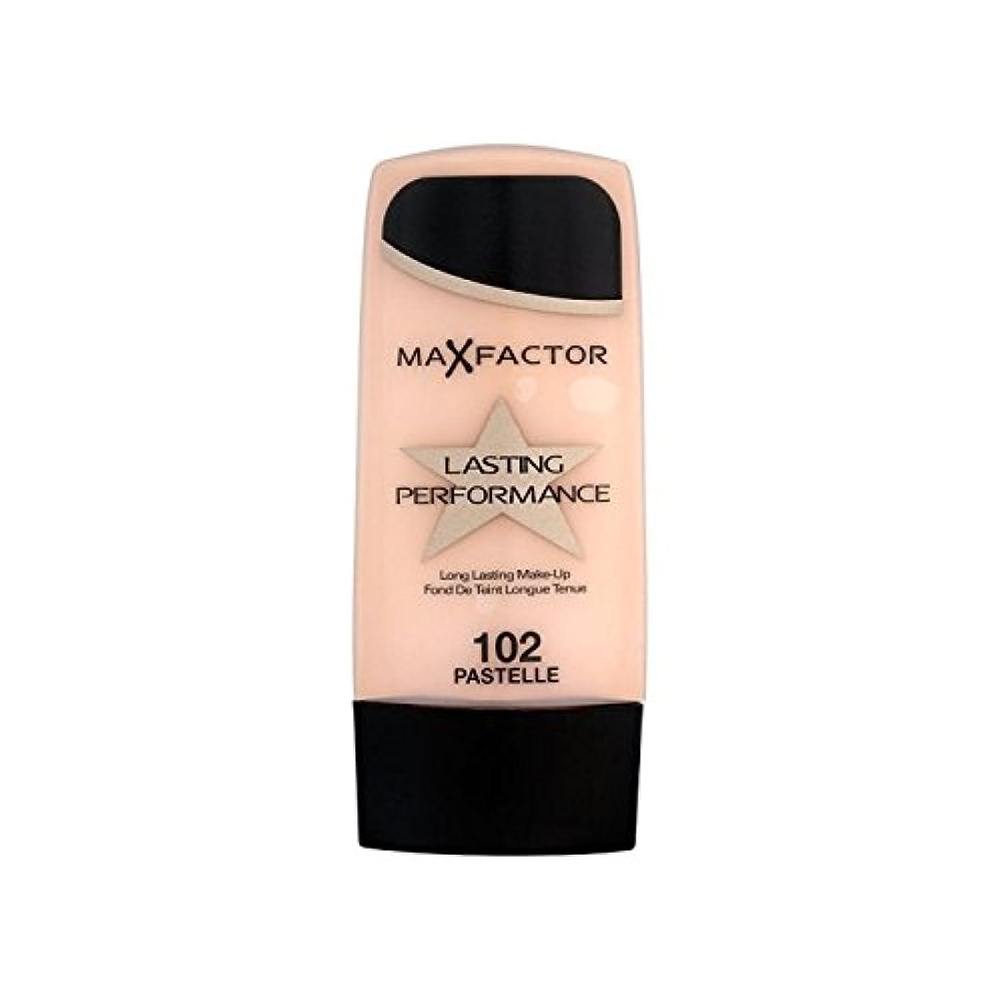 鋭く郵便屋さん砂マックスファクター持続パフォーマンスの基礎 102 x4 - Max Factor Lasting Performance Foundation Pastelle 102 (Pack of 4) [並行輸入品]