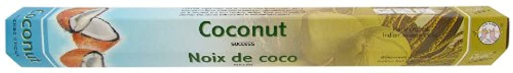 複数ありがたいうまくいけばインドお香 フルート社 ステックタイプ香 【ココナッツ】6箱セット
