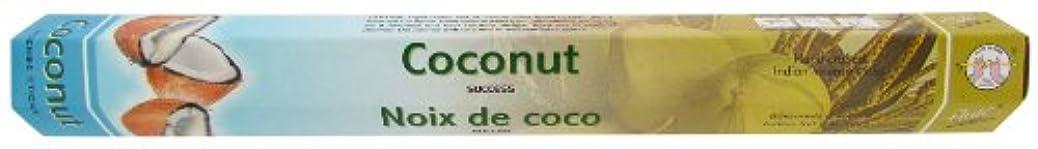 保全錫緊急インドお香 フルート社 ステックタイプ香 【ココナッツ】6箱セット