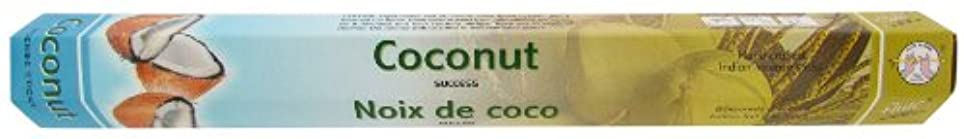 味付け反論雇うインドお香 フルート社 ステックタイプ香 【ココナッツ】6箱セット