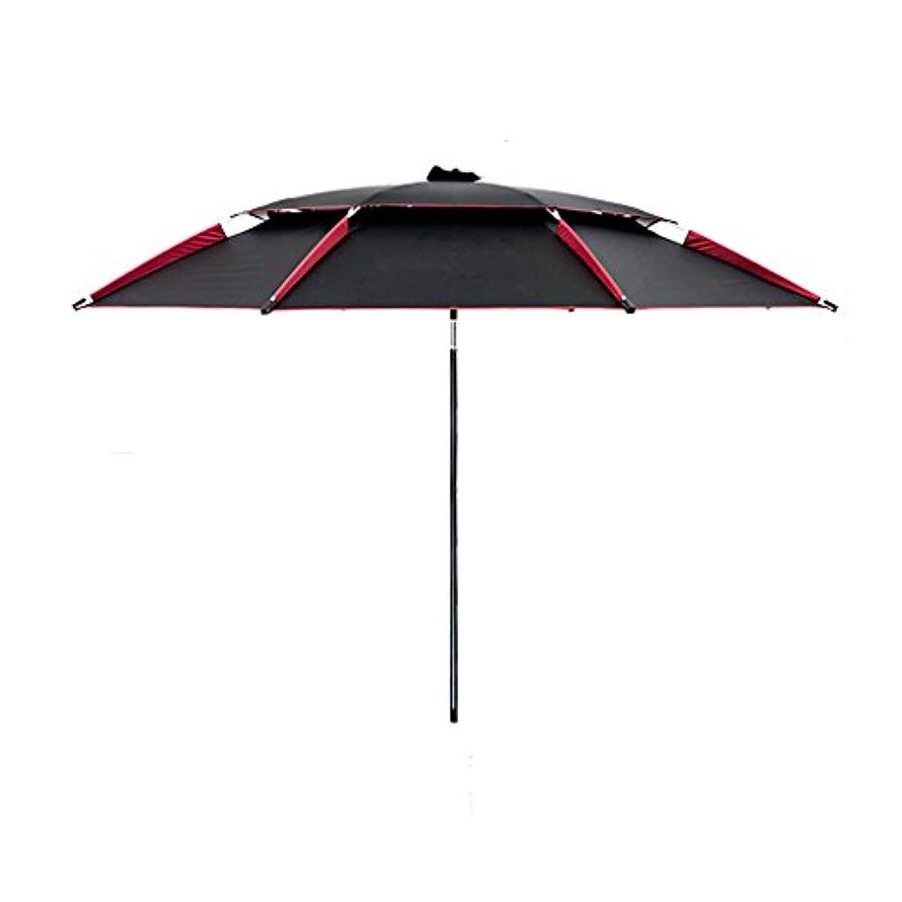 再集計マーガレットミッチェル見つけたLSS 屋外アンブレラ|釣り傘|傘| 2.2m | 2.4m |レインコート|サンスクリーン|アウトドア|パラソル|折りたたみ|釣り傘|アウトドア|釣りタックル (色 : ブラック, サイズ さいず : 220cm)
