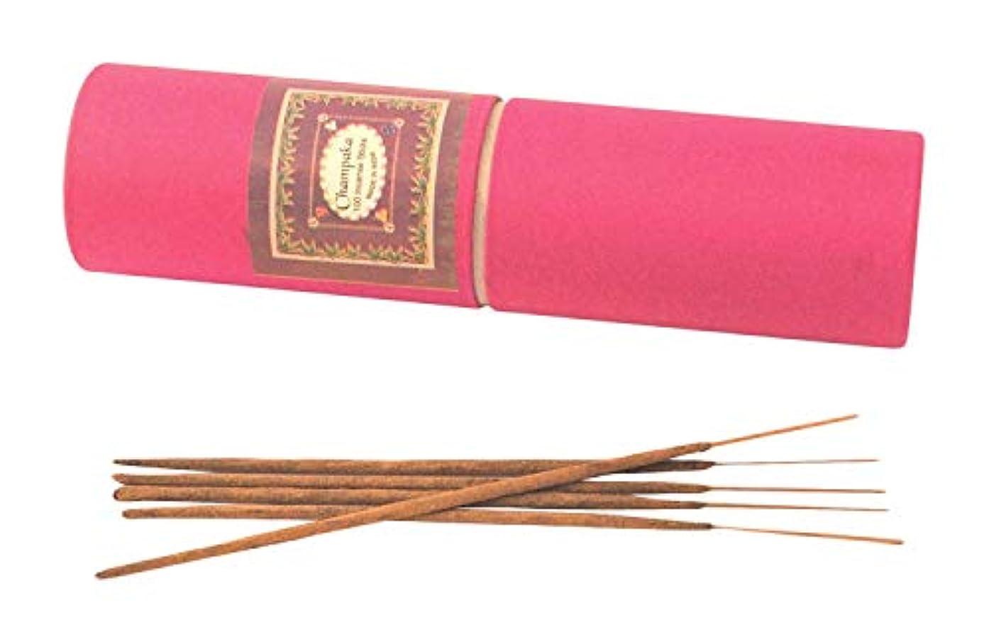 オーロック刺激する誕生My Earth Store Champaka Hand Made Incense Stick (4 cm x 4 cm x 24 cm, Brown)