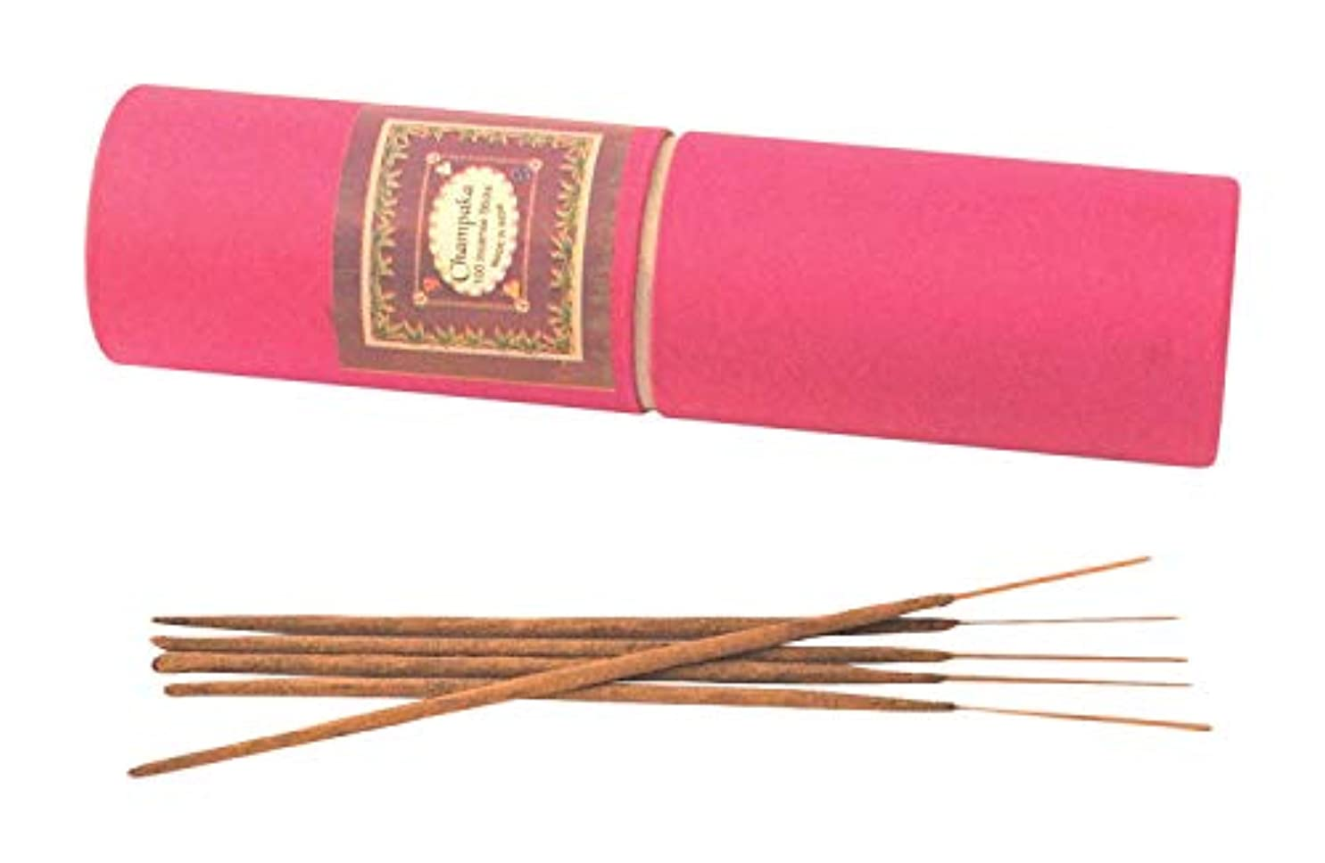 刺繍誤解を招くエスカレーターMy Earth Store Champaka Hand Made Incense Stick (4 cm x 4 cm x 24 cm, Brown)