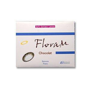 フローラM カラー コンタクト レンズ 1ヶ月交換 度なし / 度あり ショコラ PWR-2.50