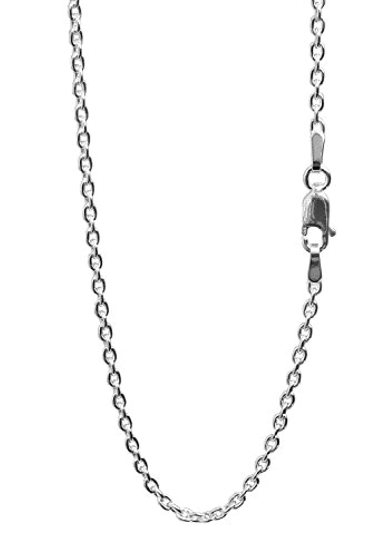 新宿銀の蔵 あずきチェーン 長さ40~80cm (45cm) 幅2.1mm シルバー 925 ネックレス チェーン ネックレスチェーン メンズ 人気 sv925