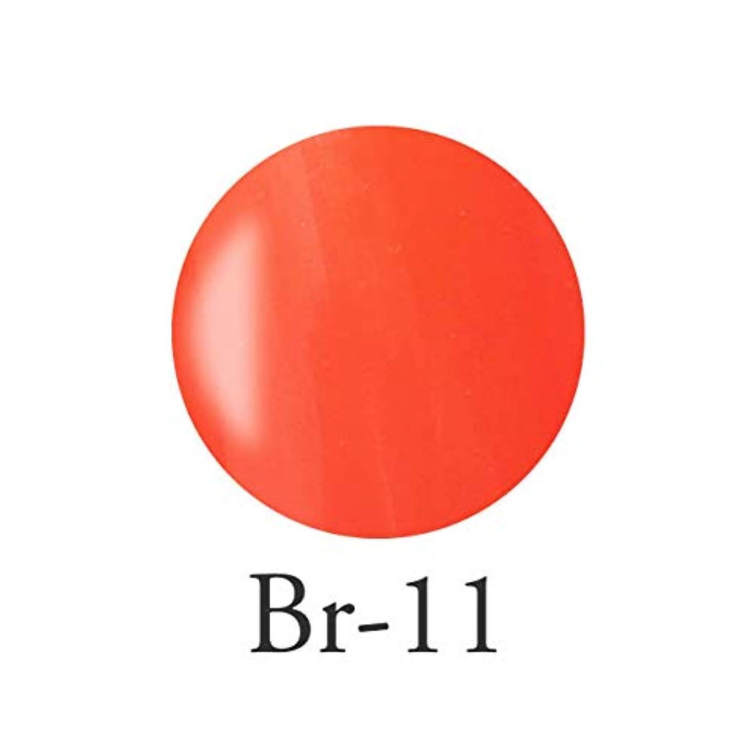 五月台風書き込みエンジェル クィーンカラージェル コロンブオレンジ Br-11 3g