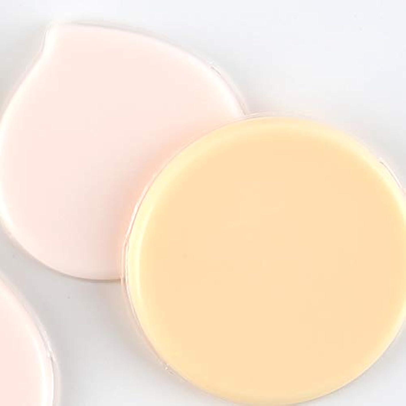 革命飽和する前提マイクロセルパフ Jelly farm+ ムラ付かない均等な仕上がりの経済的で衛生的な新感覚パフ (オレンジ)