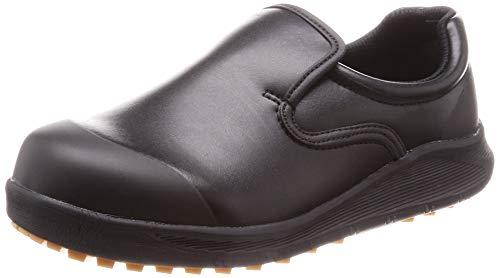 [シモン] 作業靴 セーフティースニーカー 耐滑 防菌 防カビ 厨房 コックシューズ 軽量 SC117 黒 22.5 cm 3E