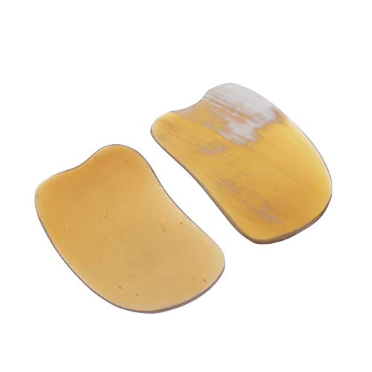 P Prettyia ナチュラル ボディフェイシャルグアシャ 削り盤ハンドヘルドスパ マッサージツール 全4サイズ - 02