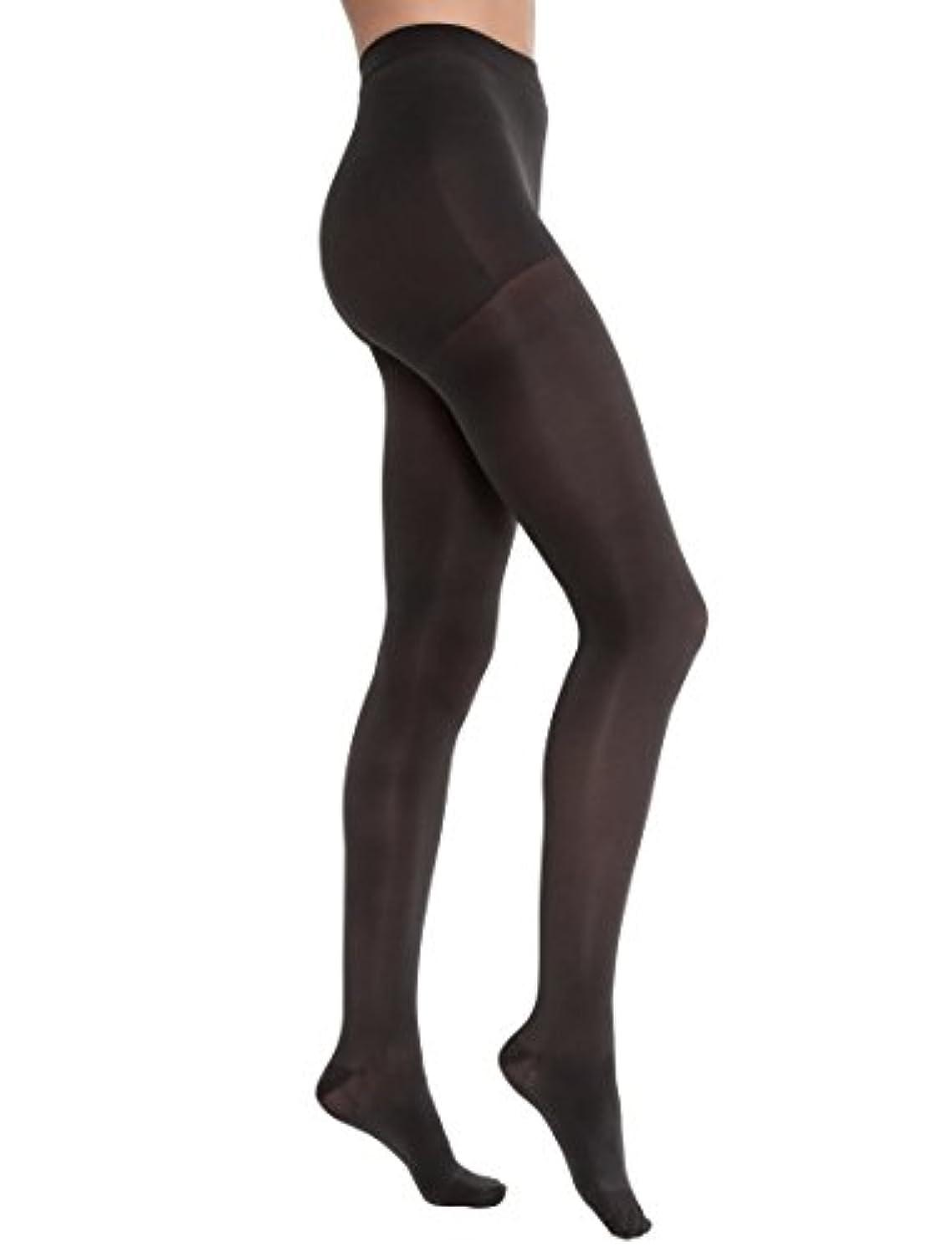 開いた無能受け継ぐJobst 115158 Opaque Pantyhose 20-30 mmHg Firm Support - Size & Color- Classic Black Large