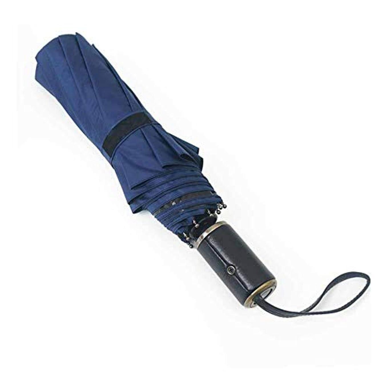 ブローホール想像力豊かな動揺させるChuangshengnet 傘大全自動折りたたみ傘太陽傘シェード傘 (Color : 青)