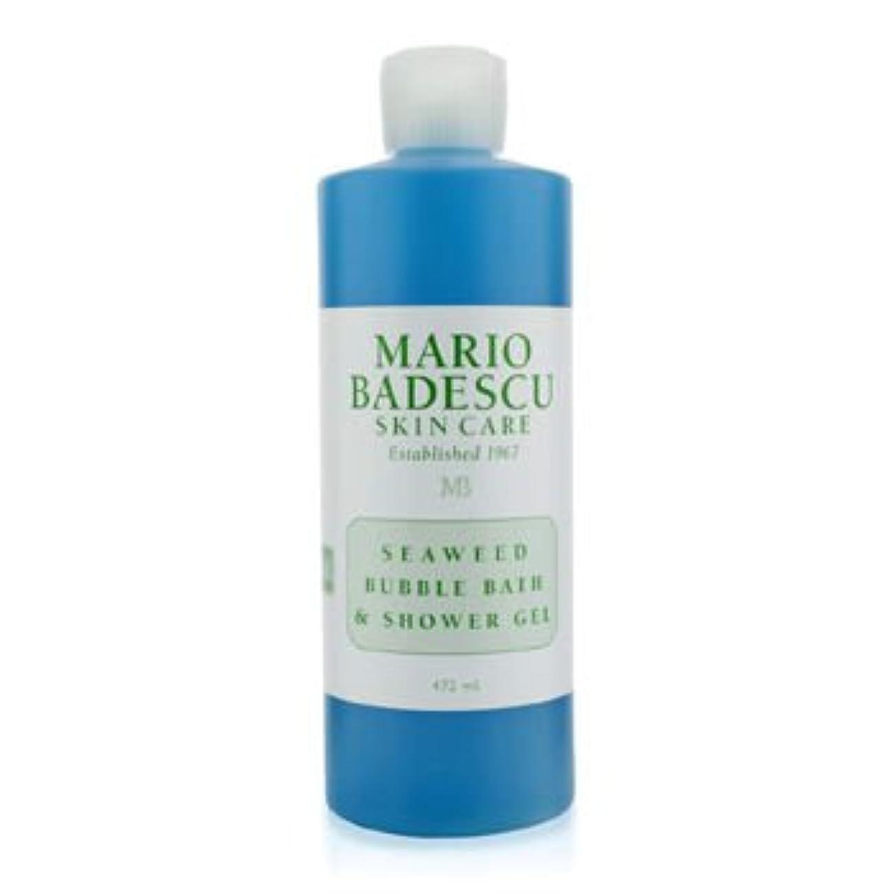 ビデオ比類のない絶望的な[Mario Badescu] Seaweed Bubble Bath & Shower Gel 472ml/16oz