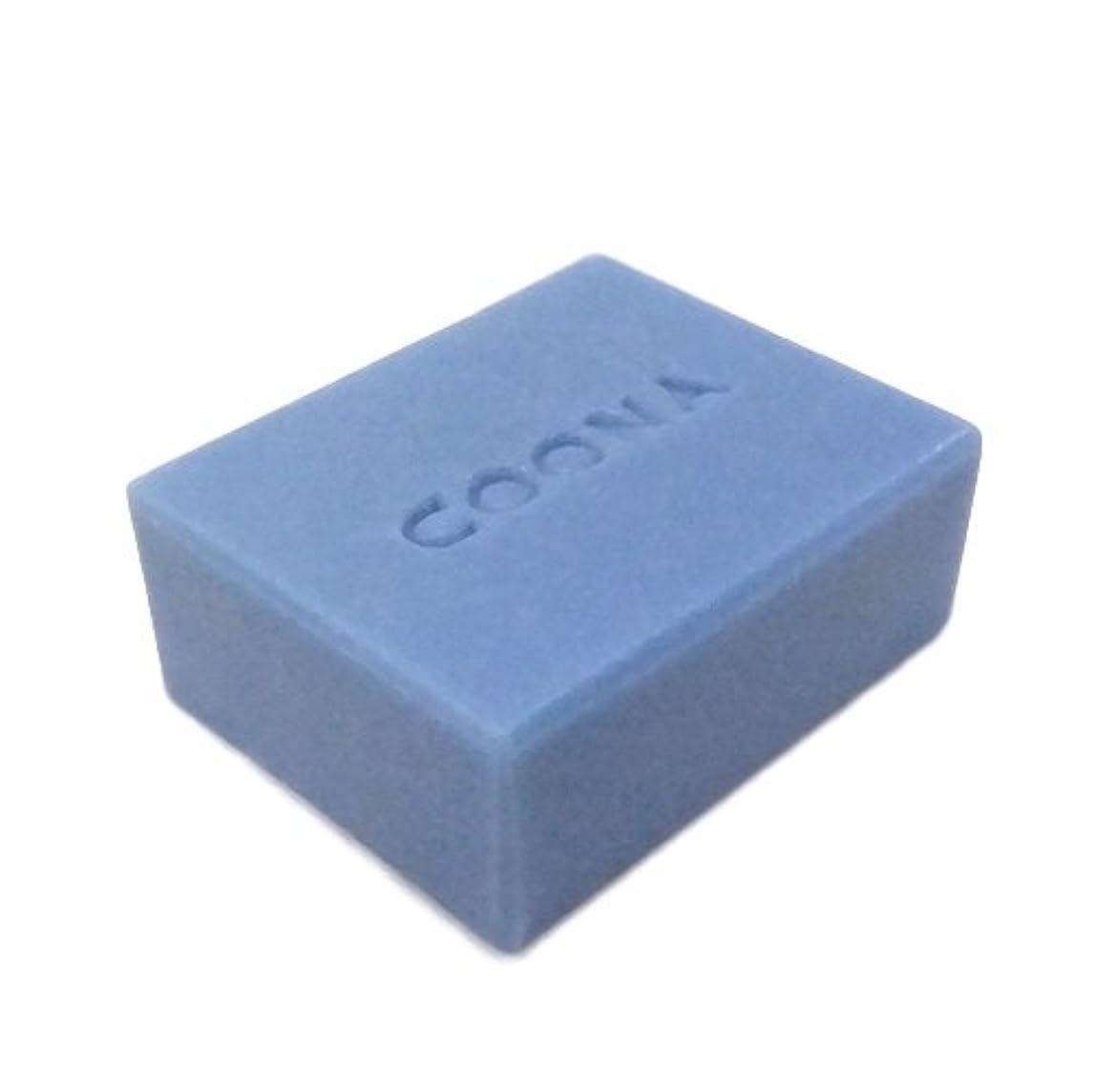 洗顔石鹸 COONAピュアEO石けん ヤロウ ブルー (天然素材 自然派 コールドプロセス 手作り せっけん) 80g