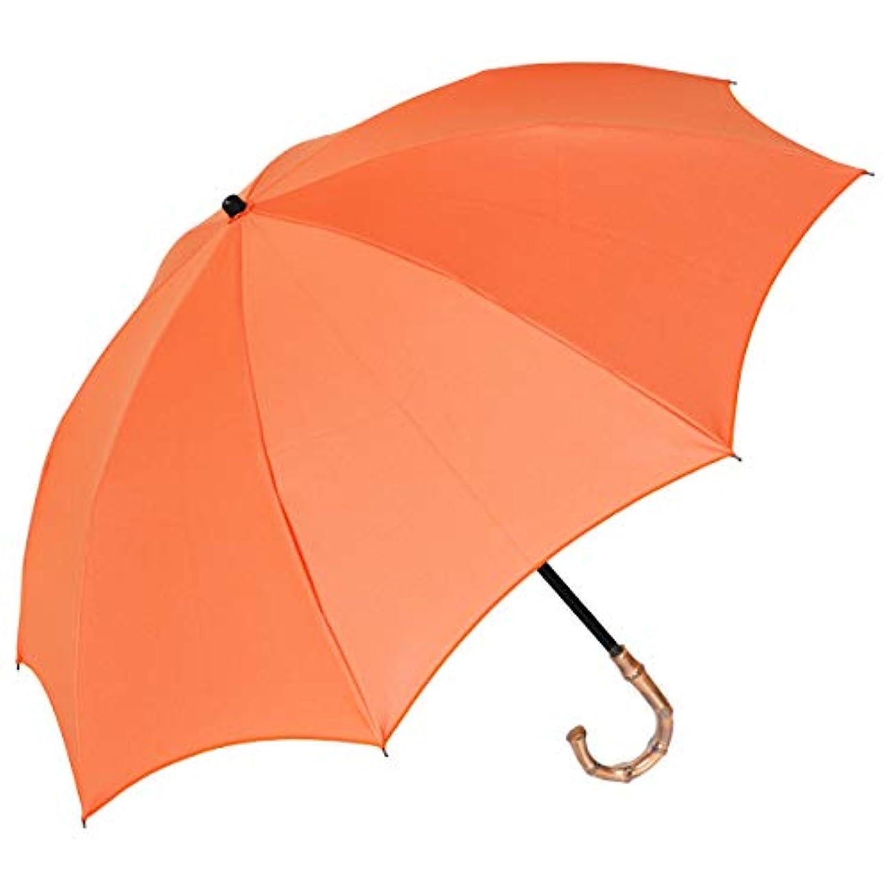 ほうき口述するモンク【Rose Blanc】100%完全遮光 日傘 晴雨兼用 2段折りたたみ プレーン 50cm (バレンシアオレンジ)