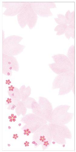 [해외]사쿠라 종이 김 봉 (만엔 봉투) 봉투 솔 번째 鳥の子 벚꽃 눈보라 8 장/Sakura Japanese paper golden (10~000 yen bag) envelope brush eye bird child Sakura Snow 8 pieces