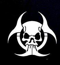 Skull Zombie Biohazard Dieデカールビニールsticker|cars Trucks Vans壁laptop|ホワイト|5.5X 5.25in|cci914