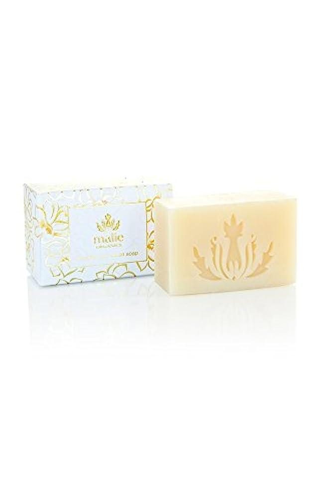 鋸歯状明らかにする逸脱Malie Organics Luxe Cream Soap Pikake(マリエオーガニクス ラックスクリームソープ ピカケ) 113g