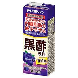 メロディアン 黒酢飲料 ブルーベリー【機能性表示食品】 200ml紙パック×24(12×2)本入