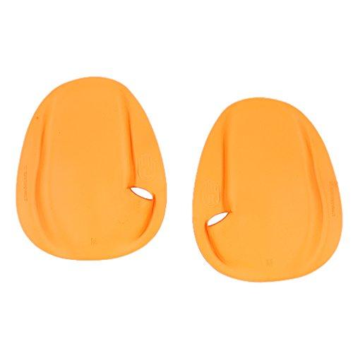 [해외]KOZEEYPVC 제 수영 수영 핸드 패들 M 사이즈 (옐로우) 1 쌍 서핑 다이빙 트라이 애슬론/KOZEEYPVC Swimming Swimming Hand Paddle M Size (Yellow) 1 pair Surfing Diving Triathlon