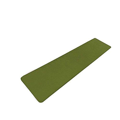 カーペットラグ 絨毯 キッチンマット 年間使用 フランネル マイクロファイバー ウレタンマット 洗える 静電気防止 ホットカーペット対応 こたつ敷 短毛 掃除易い 手触りが優しい (60cm×240cm, グリーン)