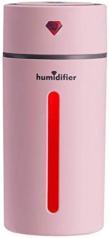 パイプパイプアミューズSOTCE アロマディフューザー加湿器超音波霧化技術満足のいく解決策美しい装飾連続霧モード湿潤環境 (Color : Pink)