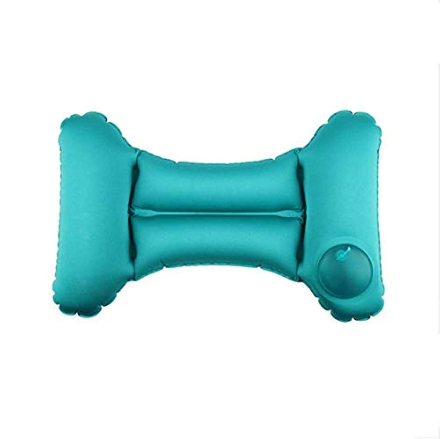 共感する懲戒危険を冒しますLTのU字型の枕旅行枕膨脹可能な旅行枕 - 柔らかい飛行機のウエストのより低い背部枕CLT Ushion - 平面で寝るための携帯用キャンプの首の枕BLT Usオフィスチェア - Drとコンパクト (色 : 青)