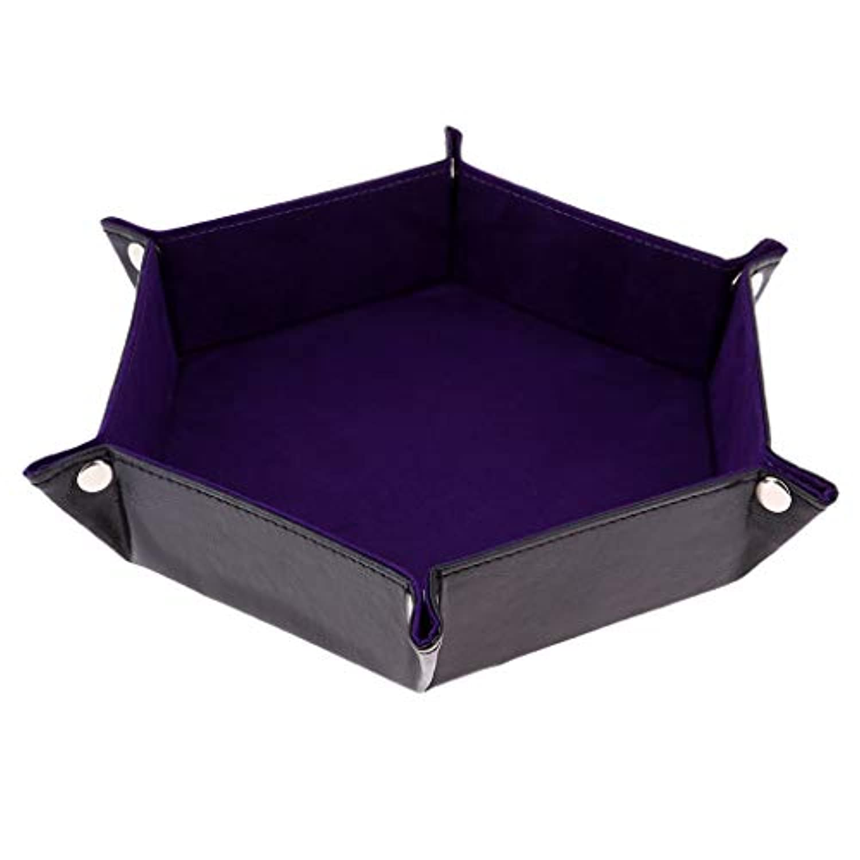 Sharplace サイコロトレイ 六角ホルダー PUレザー 全2カラー - 紫