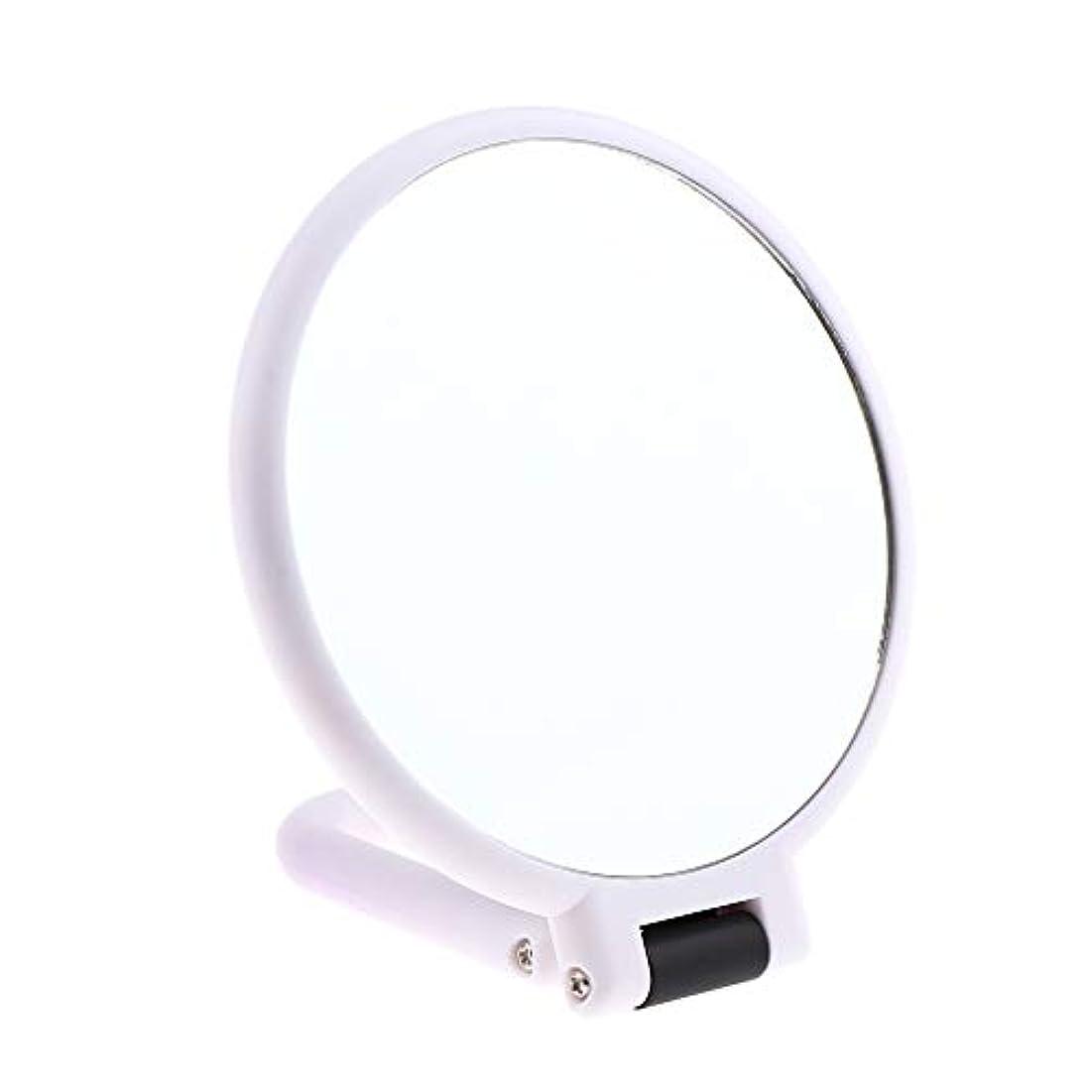 七時半スロベニア節約両面化粧鏡 拡大鏡 ラウンド メイクアップミラー お化粧 ホワイト 5仕様選べ - 10倍