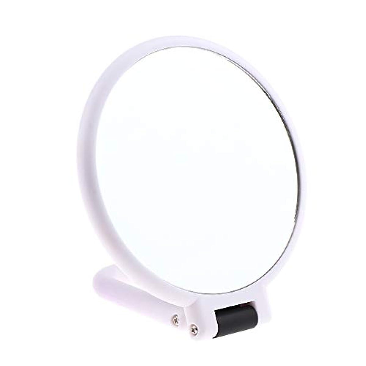 下線ポータブルボウリング両面化粧鏡 拡大鏡 ラウンド メイクアップミラー お化粧 ホワイト 5仕様選べ - 3倍